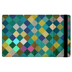 Rhombus Pattern In Retro Colors Apple Ipad 2 Flip Case by LalyLauraFLM
