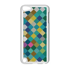 Rhombus Pattern In Retro Colors Apple Ipod Touch 5 Case (white) by LalyLauraFLM