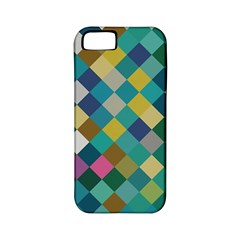 Rhombus Pattern In Retro Colors Apple Iphone 5 Classic Hardshell Case (pc+silicone) by LalyLauraFLM