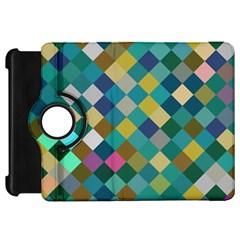 Rhombus pattern in retro colors Kindle Fire HD Flip 360 Case by LalyLauraFLM