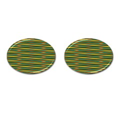 Diagonal Stripes Pattern Cufflinks (oval) by LalyLauraFLM