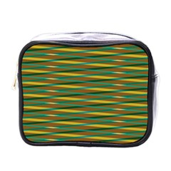 Diagonal Stripes Pattern Mini Toiletries Bag (one Side) by LalyLauraFLM