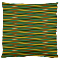 Diagonal Stripes Pattern Large Cushion Case (two Sides) by LalyLauraFLM