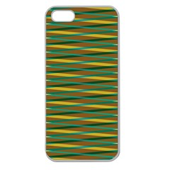 Diagonal Stripes Pattern Apple Seamless Iphone 5 Case (clear) by LalyLauraFLM