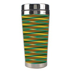 Diagonal Stripes Pattern Stainless Steel Travel Tumbler by LalyLauraFLM