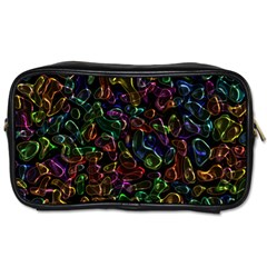Colorful Transparent Shapes Toiletries Bag (one Side) by LalyLauraFLM