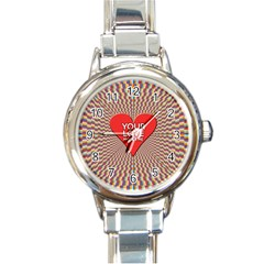 Your Love Moves Me Round Italian Charm Watches by theimagezone