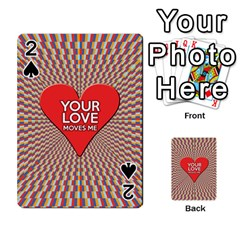 Your Love Moves Me Playing Cards 54 Designs  by theimagezone