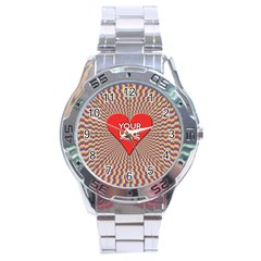 Your Love Moves Me Stainless Steel Men s Watch by theimagezone