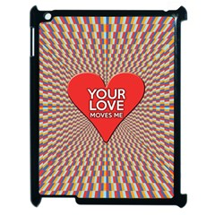 Your Love Moves Me Apple iPad 2 Case (Black) by theimagezone