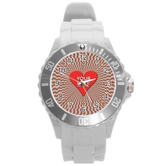 Your Love Moves Me Round Plastic Sport Watch (l) by theimagezone