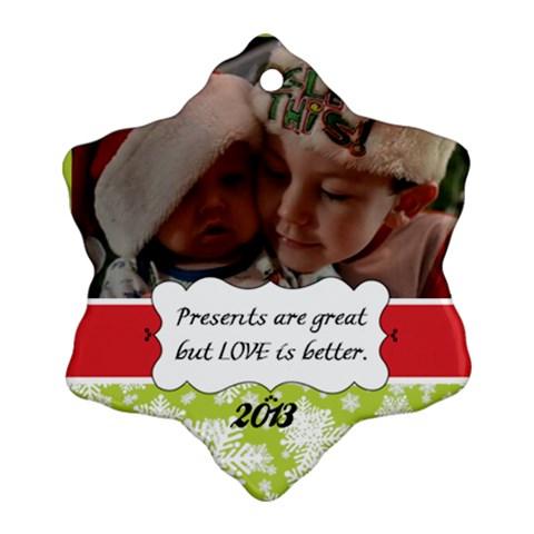 Boys By Rachel Heron   Ornament (snowflake)   Al50xr45t9hx   Www Artscow Com Front