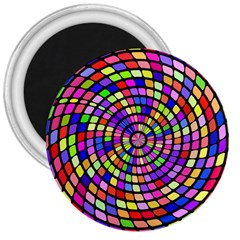 Colorful Whirlpool 3  Magnet by LalyLauraFLM