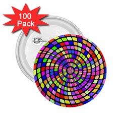 Colorful whirlpool 2.25  Button (100 pack) by LalyLauraFLM