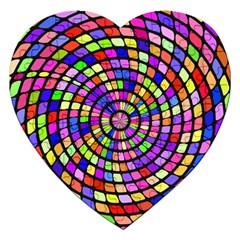 Colorful Whirlpool Jigsaw Puzzle (heart) by LalyLauraFLM