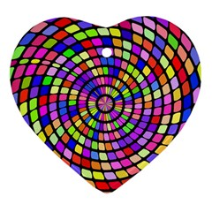 Colorful Whirlpool Heart Ornament (two Sides) by LalyLauraFLM