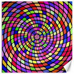 Colorful Whirlpool Canvas 12  X 12  by LalyLauraFLM