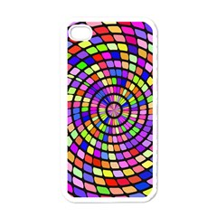 Colorful Whirlpool Apple Iphone 4 Case (white) by LalyLauraFLM