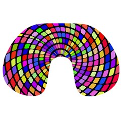 Colorful Whirlpool Travel Neck Pillow by LalyLauraFLM