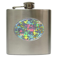 Pastel Scattered Pieces Hip Flask (6 Oz) by LalyLauraFLM