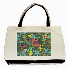 Pastel Scattered Pieces Basic Tote Bag (two Sides) by LalyLauraFLM