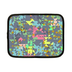 Pastel Scattered Pieces Netbook Case (small) by LalyLauraFLM