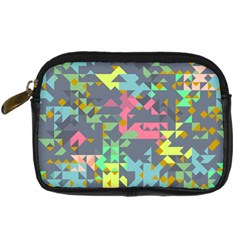 Pastel Scattered Pieces Digital Camera Leather Case by LalyLauraFLM