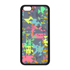 Pastel Scattered Pieces Apple Iphone 5c Seamless Case (black) by LalyLauraFLM