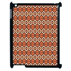 Brown Orange Rhombus Pattern Apple Ipad 2 Case (black) by LalyLauraFLM