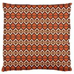 Brown Orange Rhombus Pattern Large Cushion Case (two Sides) by LalyLauraFLM