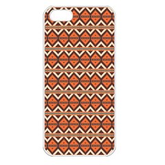 Brown Orange Rhombus Pattern Apple Iphone 5 Seamless Case (white) by LalyLauraFLM
