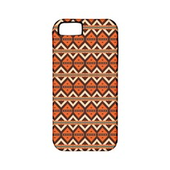 Brown Orange Rhombus Pattern Apple Iphone 5 Classic Hardshell Case (pc+silicone) by LalyLauraFLM