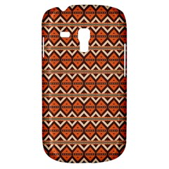 Brown Orange Rhombus Pattern Samsung Galaxy S3 Mini I8190 Hardshell Case by LalyLauraFLM
