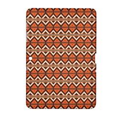 Brown orange rhombus pattern Samsung Galaxy Tab 2 (10.1 ) P5100 Hardshell Case  by LalyLauraFLM