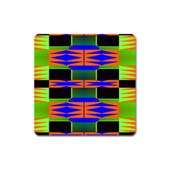 Distorted Shapes Pattern Magnet (square) by LalyLauraFLM