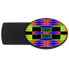 Distorted Shapes Pattern Usb Flash Drive Oval (2 Gb) by LalyLauraFLM