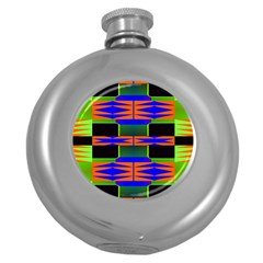 Distorted Shapes Pattern Hip Flask (5 Oz) by LalyLauraFLM
