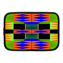 Distorted Shapes Pattern Netbook Case (medium) by LalyLauraFLM