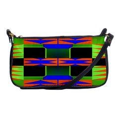 Distorted Shapes Pattern Shoulder Clutch Bag by LalyLauraFLM