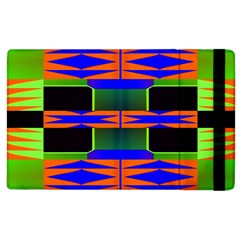 Distorted Shapes Pattern Apple Ipad 3/4 Flip Case by LalyLauraFLM