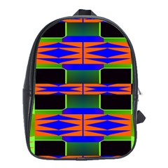 Distorted Shapes Pattern School Bag (xl) by LalyLauraFLM