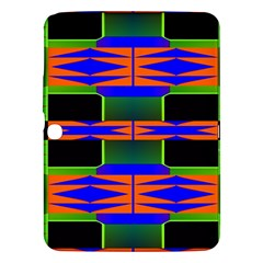 Distorted Shapes Pattern Samsung Galaxy Tab 3 (10 1 ) P5200 Hardshell Case  by LalyLauraFLM