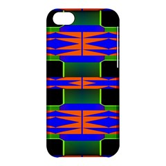 Distorted Shapes Pattern Apple Iphone 5c Hardshell Case by LalyLauraFLM