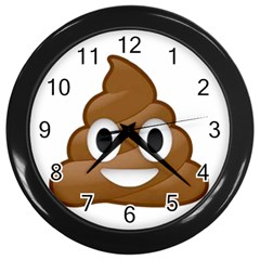 Poop Wall Clocks (Black) by redcow