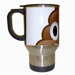 Poop Travel Mugs (white) by redcow