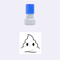 Poop Rubber Round Stamps (small) by redcow