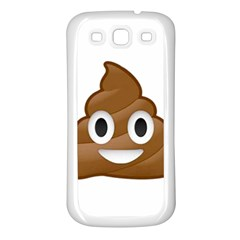 Poop Samsung Galaxy S3 Back Case (white) by redcow