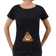 Poop Women s Loose-Fit T-Shirt (Black) by redcow
