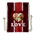 love - Drawstring Bag (Large)
