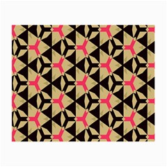 Shapes in triangles pattern Small Glasses Cloth (2 Sides) by LalyLauraFLM